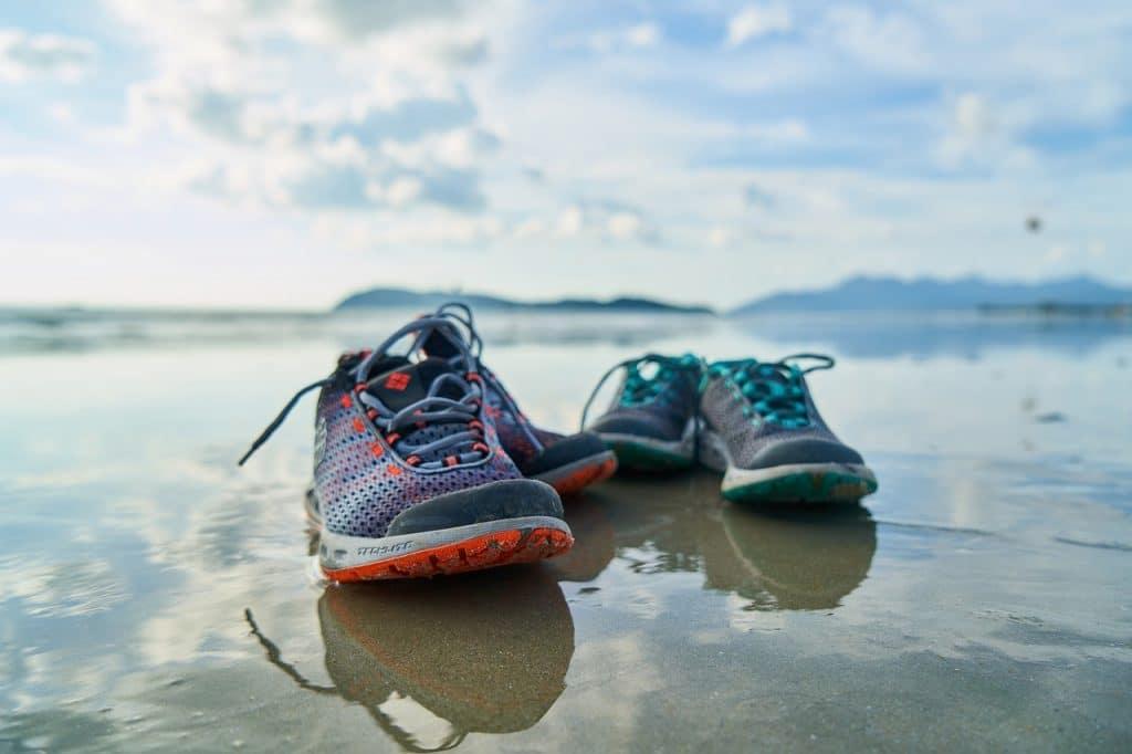 shoes, beach, sand